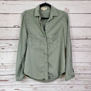 Cloth & Stone Button Down Long Sleeve Top